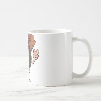 Caveman Gesturing The Peace Sign Coffee Mug