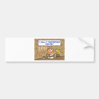 caveman masterpiece theatre theater bumper sticker