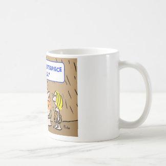 caveman masterpiece theatre theater coffee mug