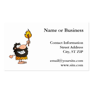 Caveman with Torch Pack Of Standard Business Cards