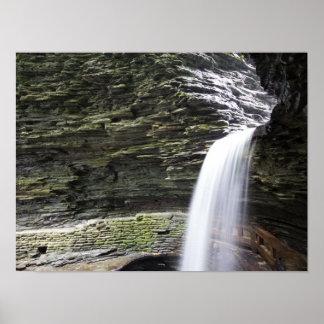 Cavern Cascade, Watkins Glen State Park, New York Poster