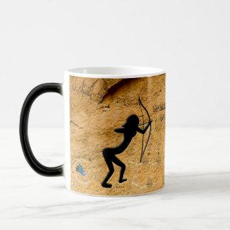 Cavewoman Archer Magic Mug
