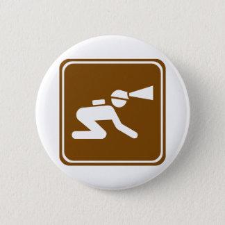 Caving Highway Sign 6 Cm Round Badge