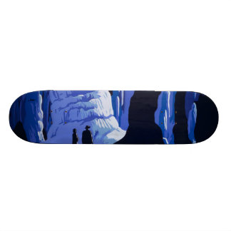 Caving Travel Cavern Vintage Travel Poster Skate Boards