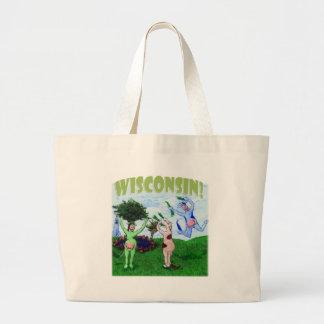 Cavorting Wisconsin Cows Jumbo Tote Bag