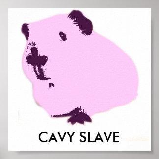 Cavy slave pint pop art guinea pig poster
