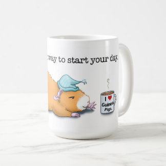 Cavy. The best way to start your day. (Mug) Coffee Mug