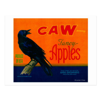 Caw Apple Crate LabelMedford, OR Postcard