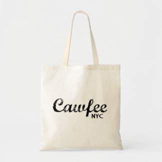 Cawfee NYC funny large tote bag
