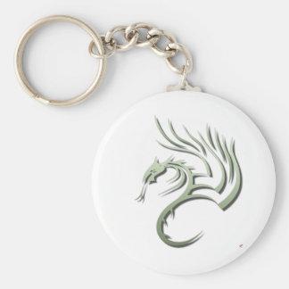 Cawthorne the Metallic Green Dragon Basic Round Button Key Ring