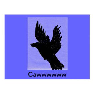 Cawwing Crow Postcard