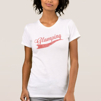"Cayenne Faded ""Glamping"" Logo Ladies Top Tshirts"