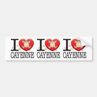 Cayenne Love Man Bumper Sticker