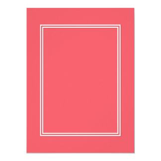 Cayman Coral-Peach-Melon-Pink- Double White Border 17 Cm X 22 Cm Invitation Card