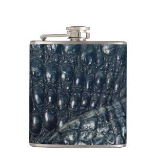 Cayman Crocodile Skin Reptile Flask