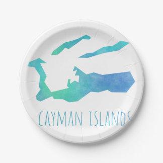 Cayman Islands 7 Inch Paper Plate