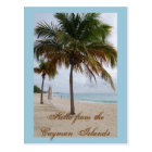 Cayman Islands Beach Postcard