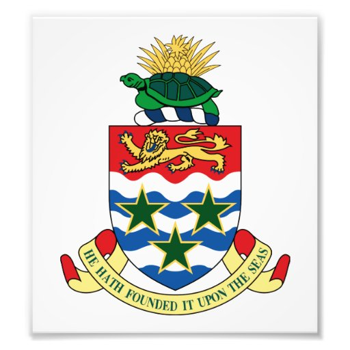Cayman Islands Coat Of Arms Art Photo