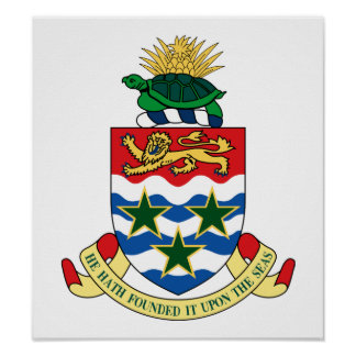 Cayman Islands Coat Of Arms Poster