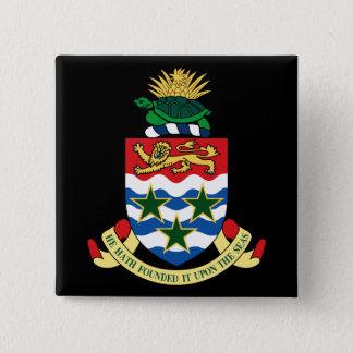 cayman islands emblem 15 cm square badge