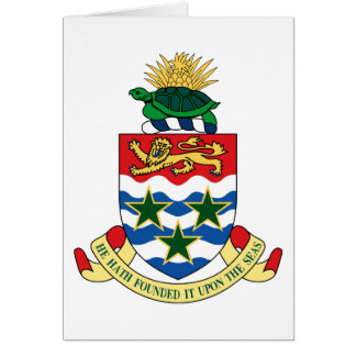 cayman islands emblem greeting card