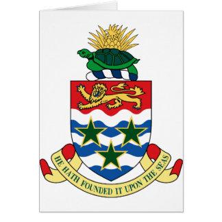 cayman islands emblem note card