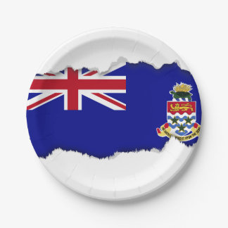 Cayman Islands Flag 7 Inch Paper Plate