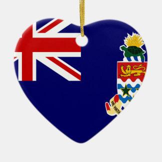 Cayman Islands Flag Ceramic Heart Decoration