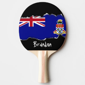 Cayman Islands Flag Ping Pong Paddle