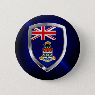 Cayman Islands Mettalic Emblem 6 Cm Round Badge
