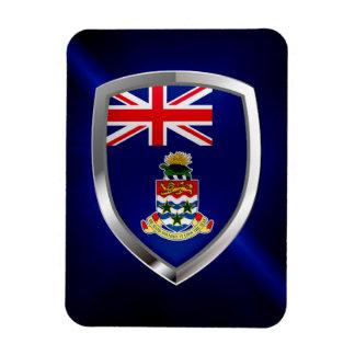 Cayman Islands Mettalic Emblem Rectangular Photo Magnet