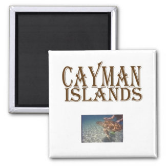 Cayman islands square magnet