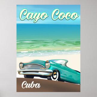 Cayo Coco cuban vacation poster