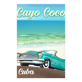 Cayo Coco cuban vacation poster Stationery