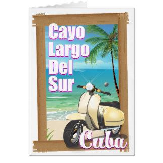 Cayo Largo del Sur cuban vacation poster Card