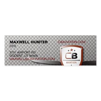 CB Aviation Skinny Double-Sided Mini Business Cards (Pack Of 20)