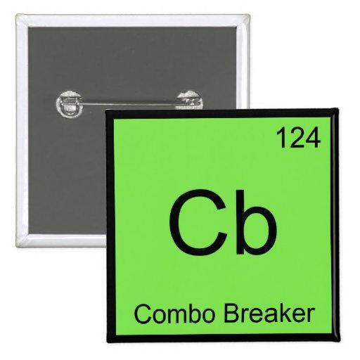 Cb - Combo Breaker Chemistry Element Symbol Tee Pins