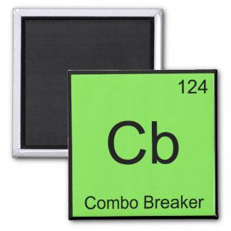 Cb - Combo Breaker Chemistry Element Symbol Tee Square Magnet