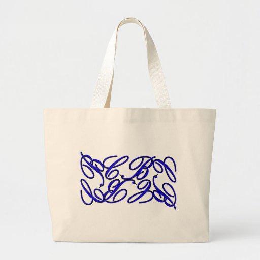 CB Design-Blue Canvas Bag