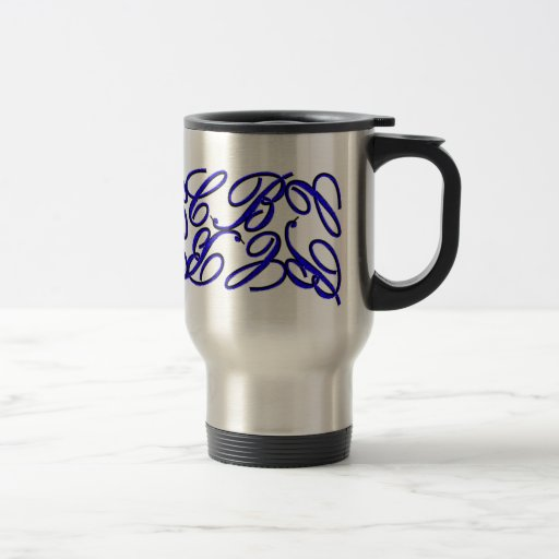 CB Design-Blue Coffee Mugs
