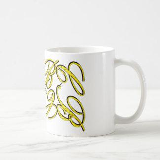 CB Design Yellow Basic White Mug