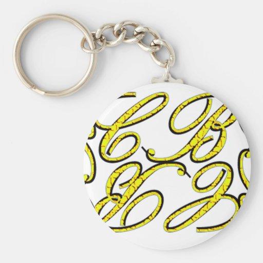 CB Design Yellow Keychains