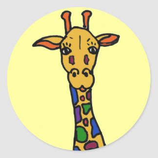 CB- fun giraffe stickers