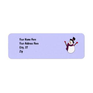 CB- Funny Snowman Address Labels