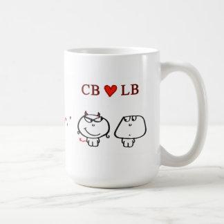 """CB heart LB"" Basic White Mug"