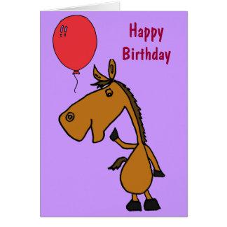 CB- Horse Cartoon Birthday Card