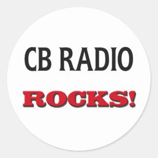 Cb Radio Rocks Round Sticker