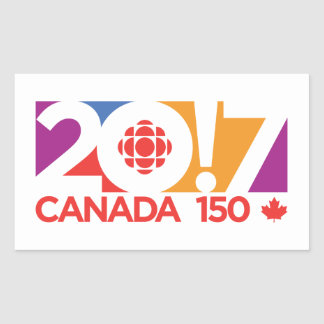 CBC/Radio-Canada 2017 Logo Rectangular Sticker