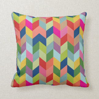 CBendel Colorful Modern Herringbone Throw Pillow