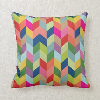 CBendel Colorful Modern Herringbone Throw Pillow